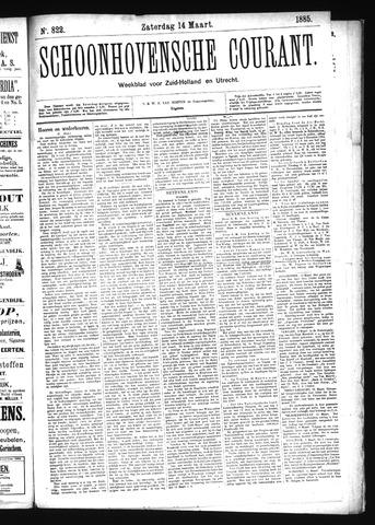 Schoonhovensche Courant 1885-03-14