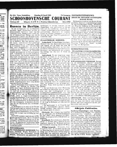 Schoonhovensche Courant 1945-04-24