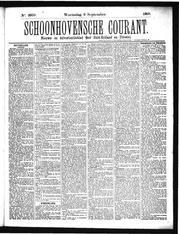 Schoonhovensche Courant 1908-09-09