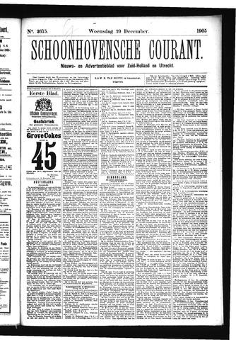 Schoonhovensche Courant 1905-12-20