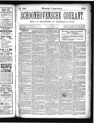 Schoonhovensche Courant 1919-09-01