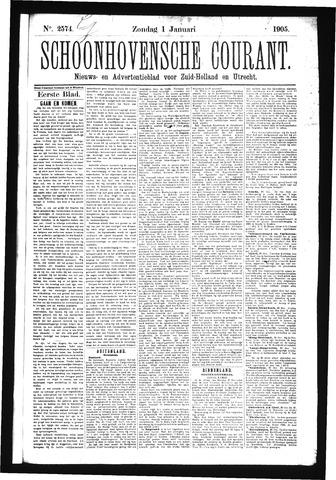 Schoonhovensche Courant 1905-01-01