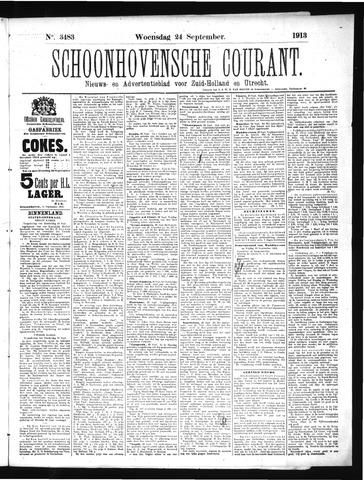 Schoonhovensche Courant 1913-09-24