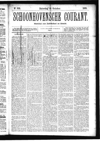 Schoonhovensche Courant 1885-10-31