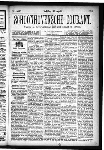 Schoonhovensche Courant 1915-04-30