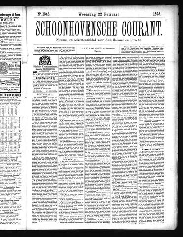 Schoonhovensche Courant 1893-02-22