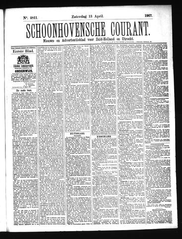 Schoonhovensche Courant 1907-04-13