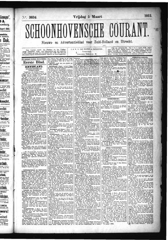 Schoonhovensche Courant 1915-03-05