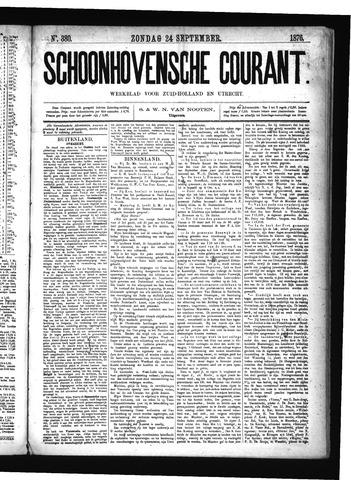 Schoonhovensche Courant 1876-09-24