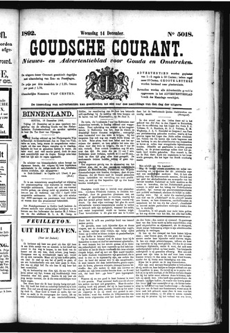 Goudsche Courant 1892-12-14