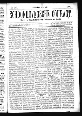 Schoonhovensche Courant 1896-04-25