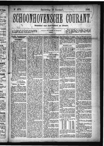 Schoonhovensche Courant 1890-01-18