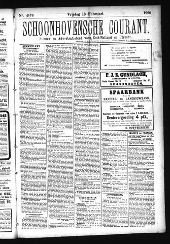 Schoonhovensche Courant 1920-02-13