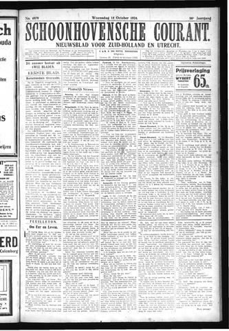 Schoonhovensche Courant 1924-10-15