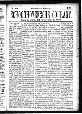 Schoonhovensche Courant 1895-09-18