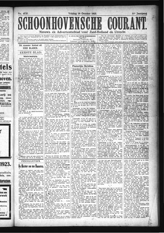 Schoonhovensche Courant 1923-10-19