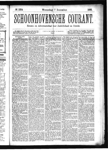 Schoonhovensche Courant 1892-12-07
