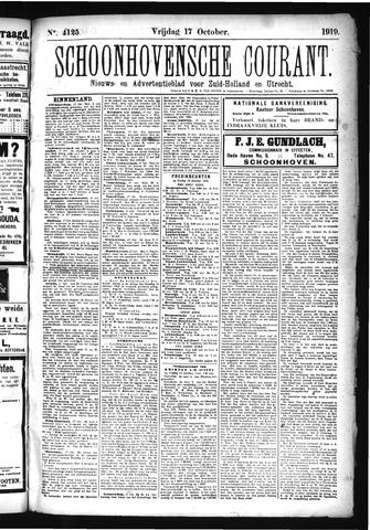 Schoonhovensche Courant 1919-10-17