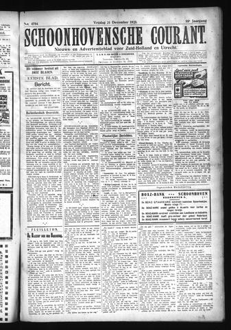 Schoonhovensche Courant 1923-12-21