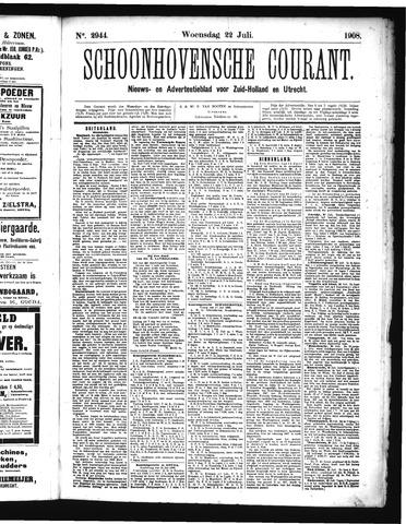 Schoonhovensche Courant 1908-07-22