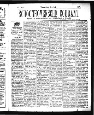 Schoonhovensche Courant 1907-07-31