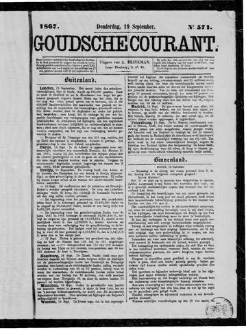 Goudsche Courant 1867-09-19