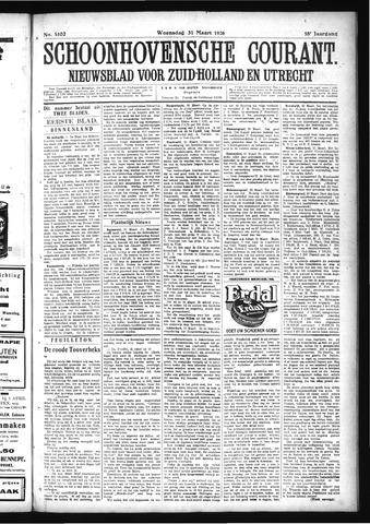 Schoonhovensche Courant 1926-03-31