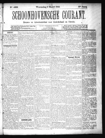Schoonhovensche Courant 1921-03-09