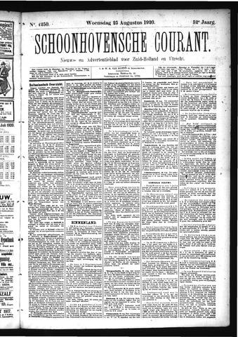 Schoonhovensche Courant 1920-08-25
