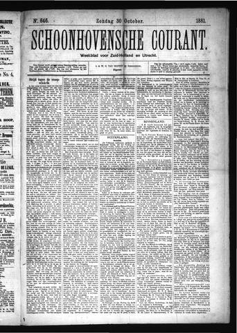 Schoonhovensche Courant 1881-10-30