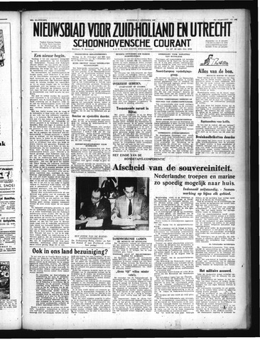 Schoonhovensche Courant 1949-11-02