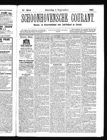 Schoonhovensche Courant 1905-09-02
