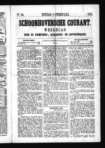 Schoonhovensche Courant 1871-02-05