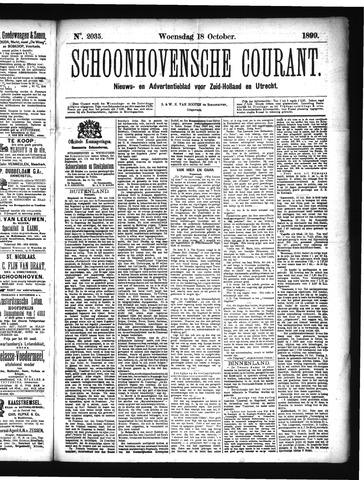 Schoonhovensche Courant 1899-10-18