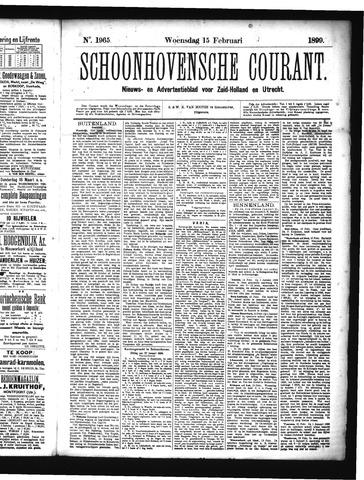 Schoonhovensche Courant 1899-02-15