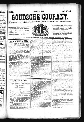 Goudsche Courant 1892-04-22