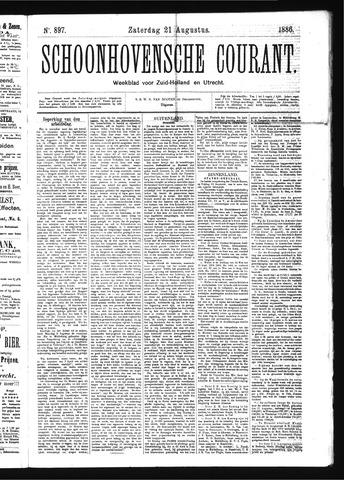 Schoonhovensche Courant 1886-08-21