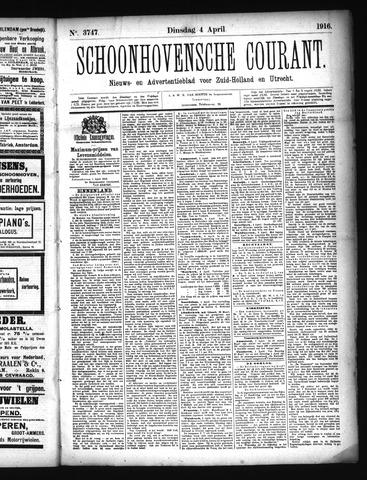 Schoonhovensche Courant 1916-04-04