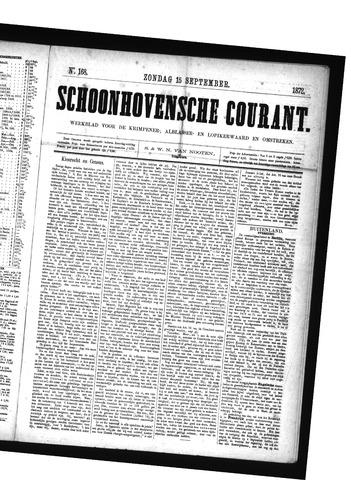 Schoonhovensche Courant 1872-09-15