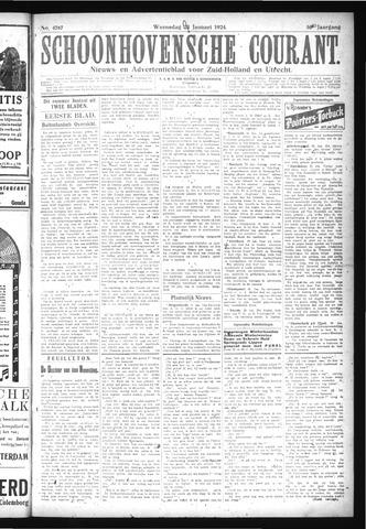 Schoonhovensche Courant 1924-01-23
