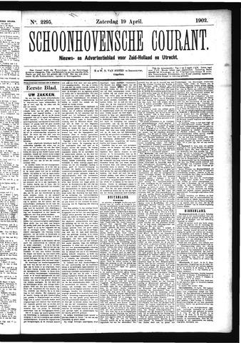 Schoonhovensche Courant 1902-04-19