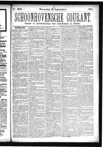 Schoonhovensche Courant 1914-09-30