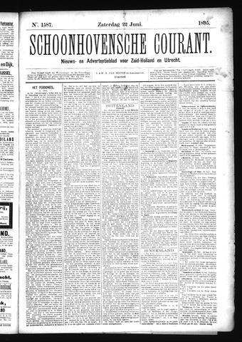 Schoonhovensche Courant 1895-06-22