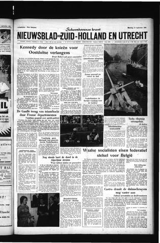 Schoonhovensche Courant 1961-09-25