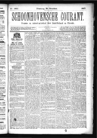 Schoonhovensche Courant 1917-10-30