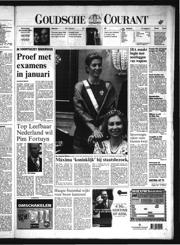 Goudsche Courant 2001-10-24