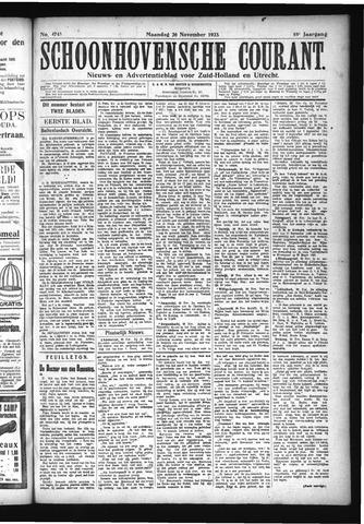 Schoonhovensche Courant 1923-11-26