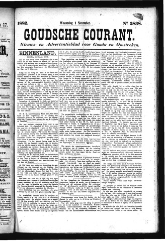 Goudsche Courant 1882-11-01
