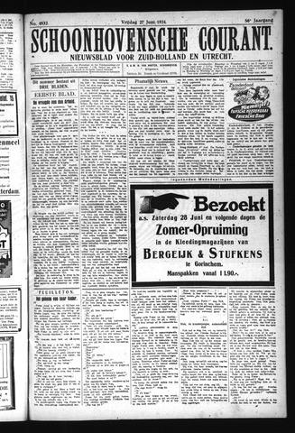Schoonhovensche Courant 1924-06-27