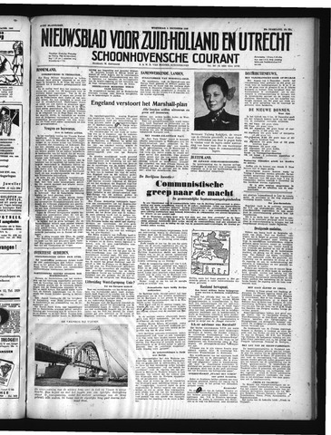 Schoonhovensche Courant 1948-12-01